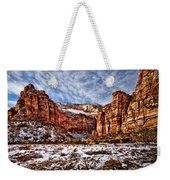 Zion Canyon In Utah Weekender Tote Bag