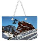 Zion National Park In Winter Weekender Tote Bag
