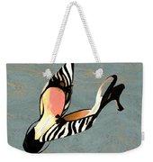Zippy Zebra Slings Weekender Tote Bag