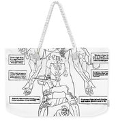 Zodiac Man, Medical Astrology Weekender Tote Bag