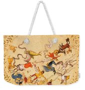Zodiac Signs From Indian Manuscript Weekender Tote Bag by Science Source
