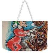 A Elf And Her Dog Weekender Tote Bag