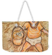 Playing In The Sand Weekender Tote Bag