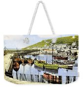 1900 Harbour View Mousehole Cornwall England Weekender Tote Bag