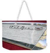 1957 Chevrolet Bel Air Convertible Weekender Tote Bag