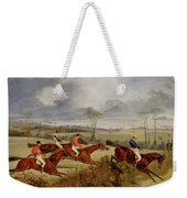 A Steeplechase - Near The Finish Weekender Tote Bag
