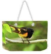 American Redstart Warbler Weekender Tote Bag