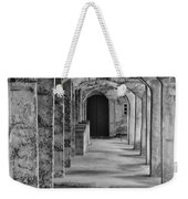 Archway At Moravian Pottery And Tile Works In Black And White Weekender Tote Bag
