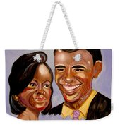 Barak And Michelle Obama   The Power Of Love Weekender Tote Bag