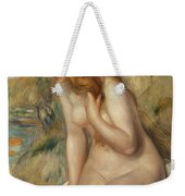 Bather Seated On A Rock Weekender Tote Bag
