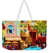 Beautiful Cafe Soleil Weekender Tote Bag
