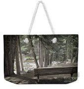 Bench By The Stream Weekender Tote Bag
