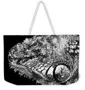 Black And White Iguana Art - One Cool Dude 2 - Sharon Cummings Weekender Tote Bag