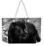 Black Leopard Weekender Tote Bag