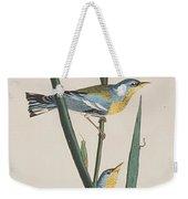 Blue Yellow-backed Warbler Weekender Tote Bag