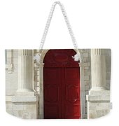 Burgundy Door Weekender Tote Bag