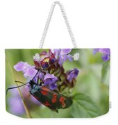 Burnet Moth Weekender Tote Bag