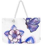 Butterfly Amongst The Flowers Weekender Tote Bag