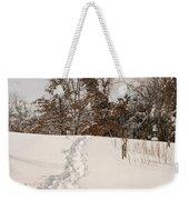 Christmas Snow Trail Weekender Tote Bag