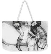 Cowgirl Riding A Hourse Weekender Tote Bag