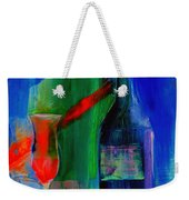 Electric Terra Cotta Blues Weekender Tote Bag