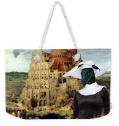 Galgo Espanol - Spanish Greyhound Art Canvas Print -the Tower Of Babel  Weekender Tote Bag
