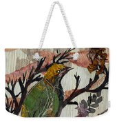 Green-yellow Bird Weekender Tote Bag