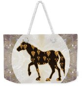 Horse Prancing Abstract Graphic Filled Cartoon Humor Faces Download Option For Personal Commercial  Weekender Tote Bag