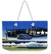 Into The Blue American War Planes Weekender Tote Bag