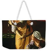 Judith And Maidservant With The Head Of Holofernes Weekender Tote Bag by Artemisia Gentileschi