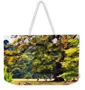 Landscape Under A Big Oak In Autumn Weekender Tote Bag