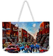 Late Afternoon Street Hockey Weekender Tote Bag