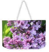 Lilacs On A Misty Morning Weekender Tote Bag