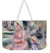 Madame Renoir And Her Son Pierre Weekender Tote Bag by Pierre Auguste Renoir