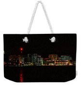 Madison Wi Skyline At Night Weekender Tote Bag