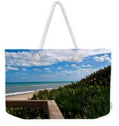 Melbourne Beach On The East Coast Of Florida Weekender Tote Bag