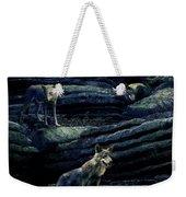 Moonlit Wolf Pack Weekender Tote Bag