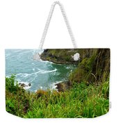 Oregon's Seaside Cliffs In Springtime Weekender Tote Bag