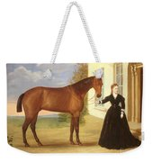 Portrait Of A Lady With Her Horse Weekender Tote Bag by English School