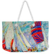 Sail Of Amsterdam II - Tree Sailboats  Weekender Tote Bag