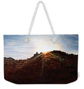 Silhouetted Mountain Weekender Tote Bag
