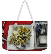 Table Settings At Time Of A Meal Weekender Tote Bag