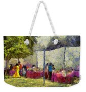 Tables At An Exhibition Weekender Tote Bag