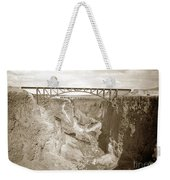 The Crooked River High Bridge Is A Steel Arch Bridge That Spans Oregon Built In 1926  Circa 1929 Weekender Tote Bag