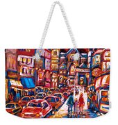 The Night Life On Crescent Street Weekender Tote Bag
