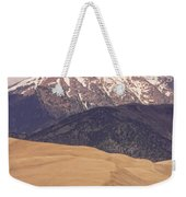 The Wind Carries Sand And Rocks From Many Miles Away. The Dunes Contain Areas Of Black Sand Which A Weekender Tote Bag