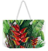 Tiger Claw .. Heliconia Weekender Tote Bag