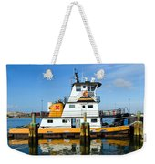Tug Indian River Is Part Of The Scene At Port Canvaeral Florida Weekender Tote Bag