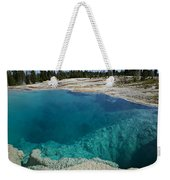 Turquoise Hot Springs Yellowstone Weekender Tote Bag