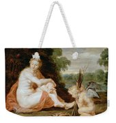 Venus And Cupid Warming Themselves  Weekender Tote Bag